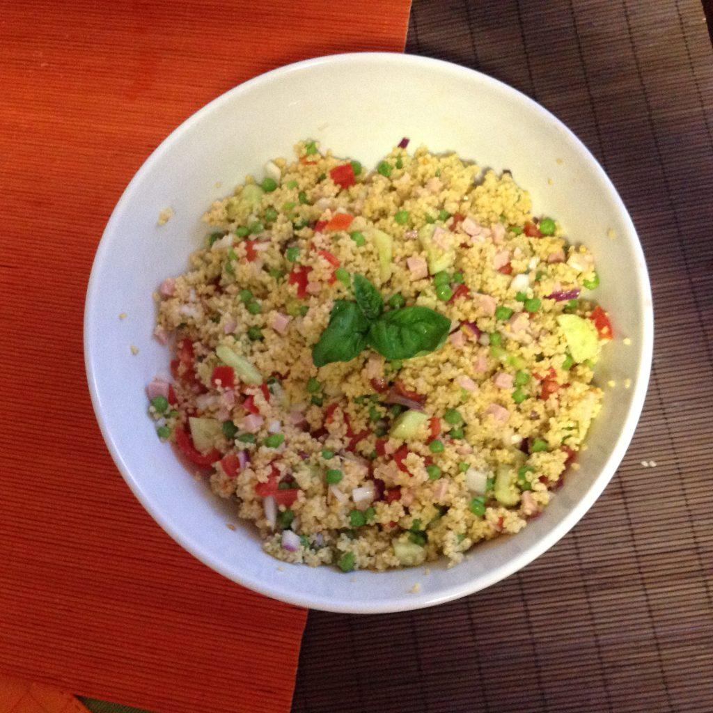 Insalata fredda di quinoa con verdure