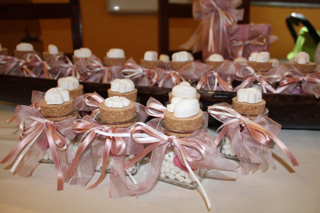 Bomboniere profumate per un Battesimo in rosa..